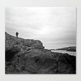 Man on the Mountain Canvas Print