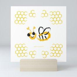 Happy bee Mini Art Print