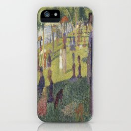 Georges Seurat's A Sunday Afternoon on the Island of La Grande Jatte iPhone Case