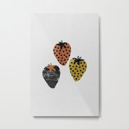 Strawberries Art Print Metal Print