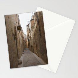 Narrow Streets in Mdina Stationery Cards