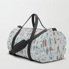vintage ski linen Duffle Bag