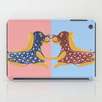 rottweiler iPad Cases featuring Rottweiler Raspberry Pie  by Lizzie Young