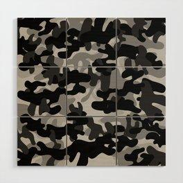 Camouflage (Gray) Wood Wall Art
