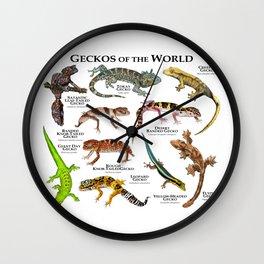 Geckos of the World Wall Clock
