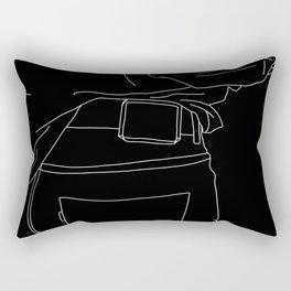 Line drawing fashion illustration - Capta Black Rectangular Pillow