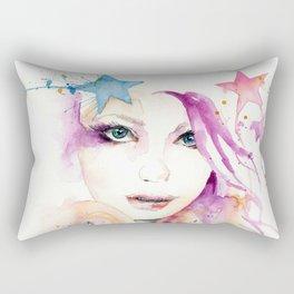Galaxy Woman Rectangular Pillow