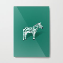 Animal Kingdom: Zebra III Metal Print