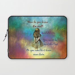 Wonderland Time - Alice In Wonderland Quote Laptop Sleeve