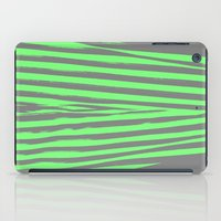 stripes iPad Cases featuring Green & Gray Stripes by 2sweet4words Designs