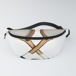 Vintage Tennis Rackets and tennis ball   Fanny Pack