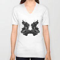 rorschach V-neck T-shirts featuring Rorschach by greta skagerlind