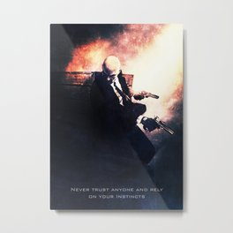 Agent 47 the Hitman Metal Print