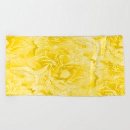 Yellow Peony Petals in Close-up #decor #society6 #buyart Beach Towel