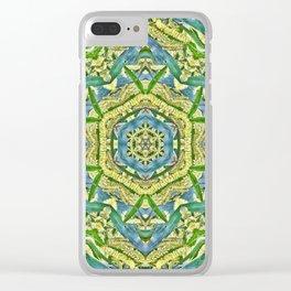 Beautiful wattle mandala Clear iPhone Case