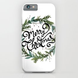 Merry Christmas Wreath iPhone Case