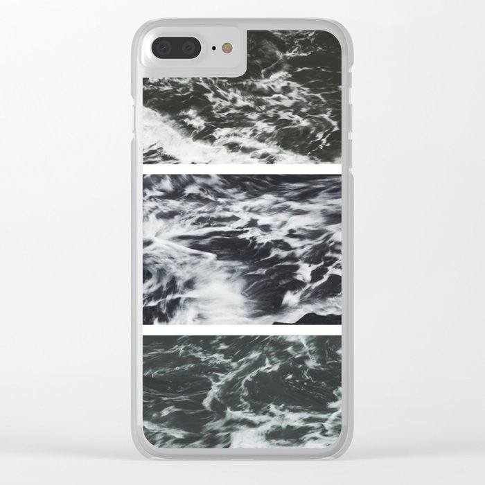 Saltwater Trytych Var II - blacks Clear iPhone Case