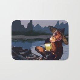 Night Fisher Bath Mat