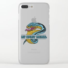 Snake Is My Spirit Animal | Cobra Anaconda Viper Clear iPhone Case