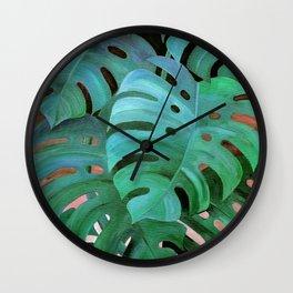 Monstera Love Wall Clock
