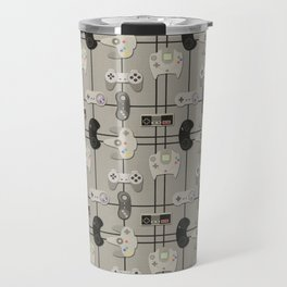 Paper Cut-Out Video Game Controllers Travel Mug