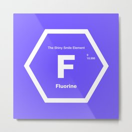 Fluorine Metal Print