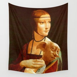 Lady With Dobby Wall Tapestry