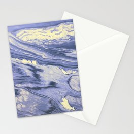 Lavender Marble With Cream Swirls Stationery Cards