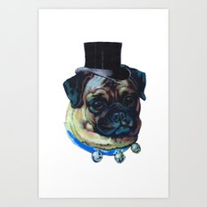 Sir Pugs Art Print