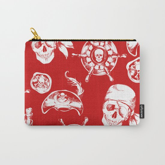 Red Pirate Pattern Carry-All Pouch
