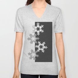 Black and white Christmas pattern Unisex V-Neck