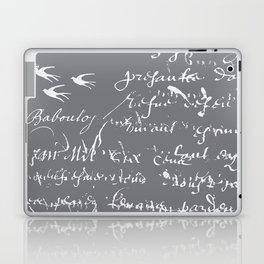 French Script on Steel Gray Laptop & iPad Skin