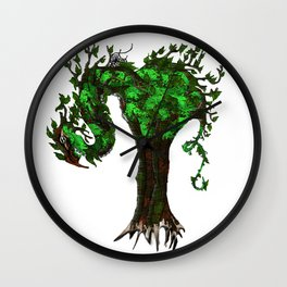 Tree Dragons Wall Clock