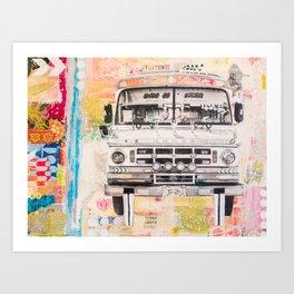 Bolivian Bus Art Print