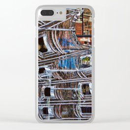 Ice Made Abstraction Clear iPhone Case
