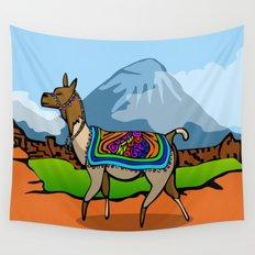 Lofty Llama Wall Tapestry