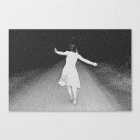 running Canvas Prints featuring Running by Ellen Wappett