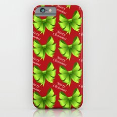 Merry Christmas Bows Slim Case iPhone 6s