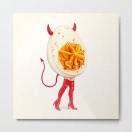 Deviled Egg Pin-Up Metal Print