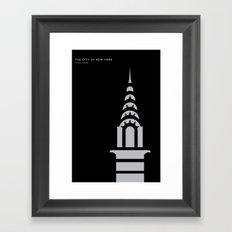 New York Skyline: Chrysler Building Framed Art Print