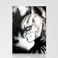 bat man Stationery Cards featuring bat man by Tufty Cookie