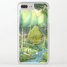 Painting By The Stream Clear iPhone Case