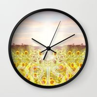 prism Wall Clocks featuring PRISM by Kao Intouch