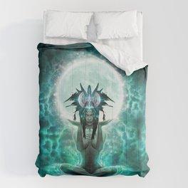 Selene - Moon Goddess - Visionary Art - Manafold Art Comforters