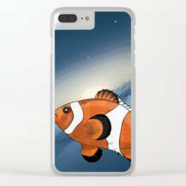 A clownfish in the universe Clear iPhone Case