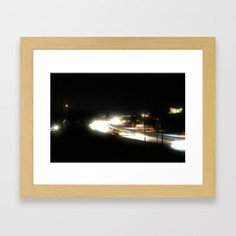 Electric Is The Night Framed Art Print