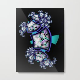 Abstract Fractal Seahorse Metal Print