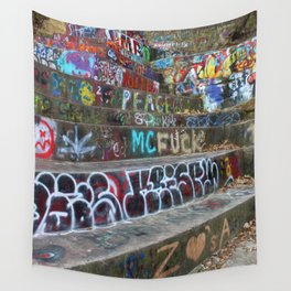 Graffiti in the wild Wall Tapestry