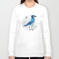 jay fleck Long Sleeve T-shirts featuring Blue Jay by Condor