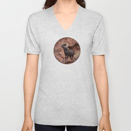 Desert Bighorn, Valley of Fire - III Unisex V-Neck
